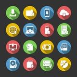 Установленные значки символов загрузки интернета иллюстрация штока
