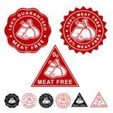 Установленные значки уплотнений мяса свободные бесплатная иллюстрация