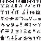 Установленные значки успеха Стоковое Изображение RF