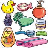 установленные иконы ванной комнаты Стоковое Изображение RF
