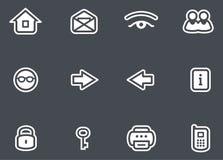 Установленные иконы вектора иллюстрация штока
