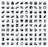 Установленные иконы еды иллюстрация вектора