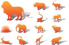 установленные иконы животных 25a иллюстрация вектора