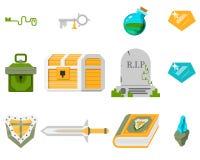 установленные иконы игры Стоковые Изображения RF