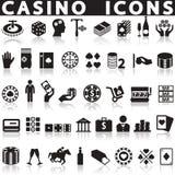 установленные иконы казино Стоковая Фотография RF