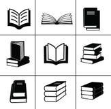 Установленные иконы книги. Стоковые Фотографии RF