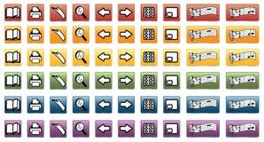 установленные иконы книги e Стоковые Изображения