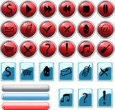 установленные иконы кнопок Стоковые Изображения