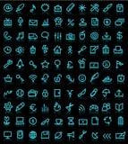 установленные иконы компьютера Стоковое Изображение