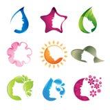 установленные иконы красотки Стоковые Изображения RF