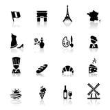 установленные иконы культуры кухни французские Стоковые Фото