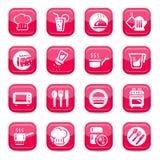 Установленные иконы кухни Стоковое Изображение