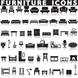 установленные иконы мебели Стоковое фото RF