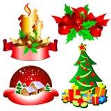 установленные иконы праздников иллюстрация вектора