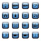 установленные иконы применений vector сеть Стоковое фото RF