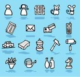 установленные иконы родного дома взрослых Стоковое Изображение RF