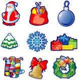 установленные иконы рождества Стоковые Фотографии RF