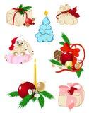 установленные иконы рождества Иллюстрация вектора