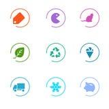Установленные иконы рынка стоковое изображение