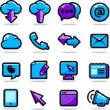 установленные иконы связи Стоковое фото RF
