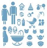 установленные иконы семьи конструкции Стоковые Фото