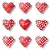 установленные иконы сердца Стоковое Изображение