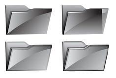 установленные иконы скоросшивателя Стоковое Изображение RF
