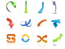 установленные иконы стрелки Стоковое фото RF
