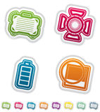 Установленные иконы съемки Стоковое Фото