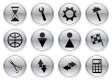 установленные иконы устройства иллюстрация штока