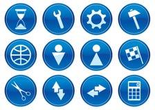 установленные иконы устройства иллюстрация вектора