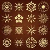 установленные иконы цветков Стоковое фото RF