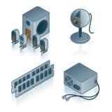 установленные иконы элементов конструкции компьютера 44d Стоковое Изображение RF