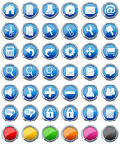 установленные иконы 1 кнопки лоснистые Стоковые Изображения