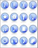 установленные иконы стоковые изображения