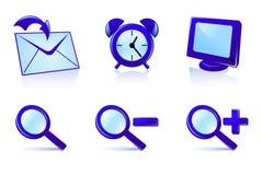 установленные иконы Стоковые Изображения RF