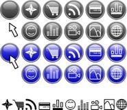 установленные иконы Стоковая Фотография RF