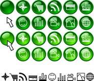установленные иконы Стоковая Фотография