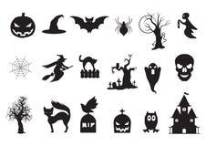 установленные иконы halloween Стоковое Изображение