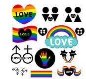 Установленные иконы LGBT бесплатная иллюстрация