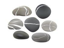 установленные камушки Стоковые Изображения