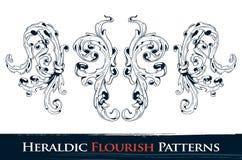 установленные картины flourish heraldic иллюстрация штока