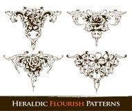установленные картины flourish heraldic иллюстрация вектора