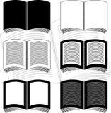 установленные книги иллюстрация вектора