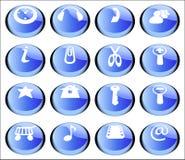 установленные кнопки стоковое изображение