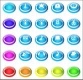 установленные кнопки стоковые изображения rf