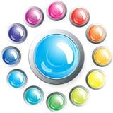 установленные кнопки Стоковое Фото
