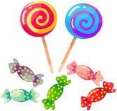 Установленные конфеты Стоковые Изображения