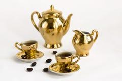 установленные кофейные чашки Стоковое Изображение
