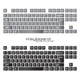 УСТАНОВЛЕННЫЕ клавиатуры Черно-белый дизайн клавиатуры gamer wasd Стоковое фото RF